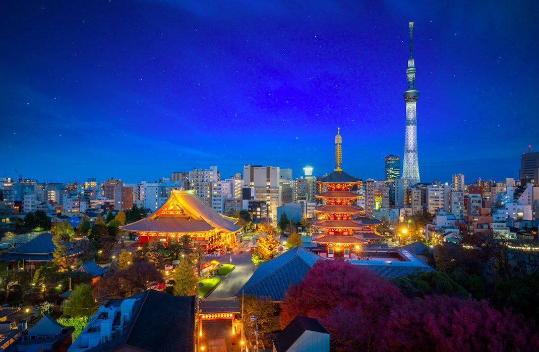 スカイツリーの夜景から浅草で大人のディナーを楽しむプラン【東京・4時間・¥7500】